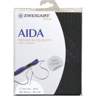 Zweigart - 14ct Black Premium Quality Aida 19 x 21 in