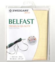 Zweigart - 32 Ct Cream Belfast Premium Quality Linen 19 x 27 in