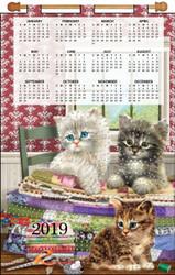 Design Works - Quilting Kitties 2019 Calendar