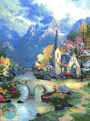 Candamar / Thomas Kinkade - Mountain Chapel
