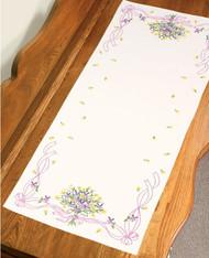 Dimensions - Violets Nosegay Dresser Scarf