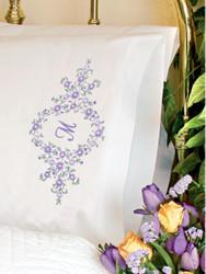 Dimensions -  Daisy Monogram Pillowcases