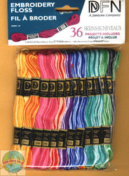 Janlynn - 36 Skiens of Embroidery Floss Variegated