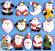 Design Works - Lotsa Santas Ornaments (13)