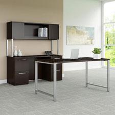 BBF Bush 400 Series Office Furniture - Mocha Cherry Finish