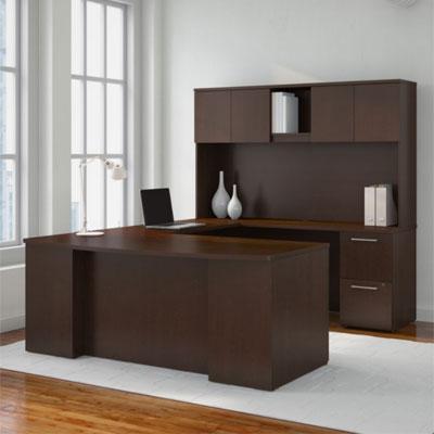 BBF 300 Series Office Furniture - Mocha Cherry Finish