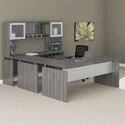 Mayline Medina Laminate Executive Series - Gray Steel Finish