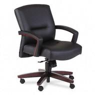 HON 5000 Series Park Avenue Collection Executive Mid Back Vinyl Chair - Mahogany - 5002NEE11