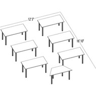 Bush Aspen Conference Table Package 16 - ASPEN16