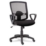 Alera Etros Series Mesh Mid-Back Swivel / Tilt Chair Black - ET42ME10B