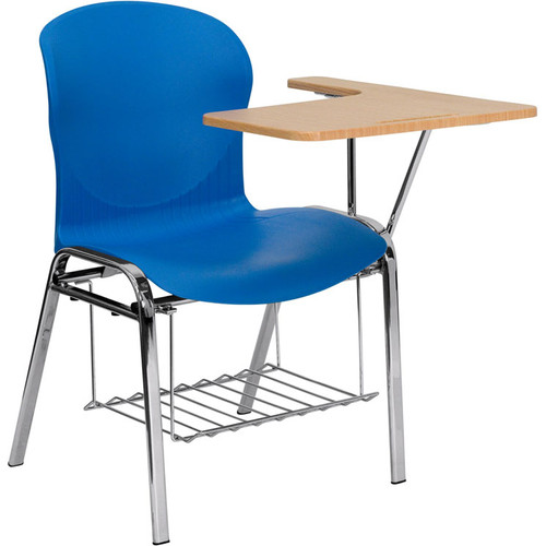 New Flash Furniture JN-EVO-DESK-LFT-GG Shell Chair with Left Handed  JB59