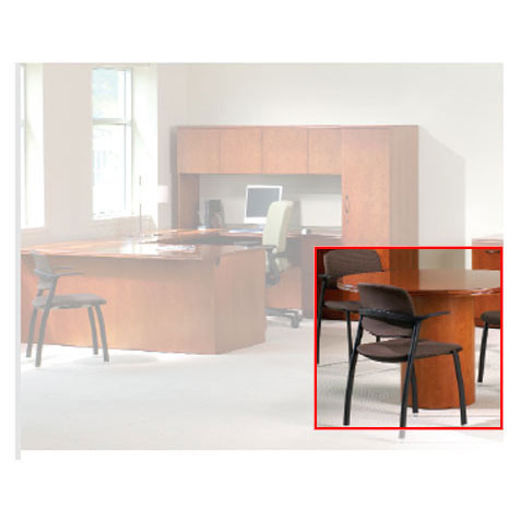 HON Park Ave Veneer Round Conference Table PAXBXJJ JJ Ships - Hon round conference table
