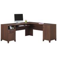Bush Achieve L-Shaped Computer Desk Sweet Cherry Finish - PR67610K