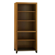 Bush Achieve 5-Shelf Bookcase Warm Oak Finish - PR67365