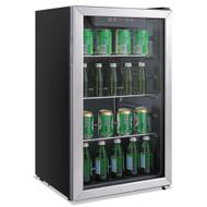 Alera 120-Can Beverage Cooler Refrigerator - ALERFBC34