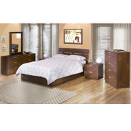 Nexera Nocce 6-Piece Queen Size Bed Bedroom Collection - 400036