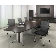 Mayline Transaction Series Conference Table 18' Boat Shaped Technology Intensive - TAC18TB