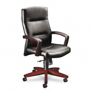 HON 5000 Series Park Avenue Collection Executive High Back Leather Chair    Mahogany   5001NSS11