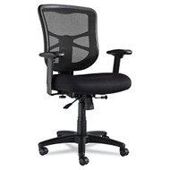 Alera Elusion Series Mesh Mid-Back Swivel / Tilt Chair, Black - EL42BME10B