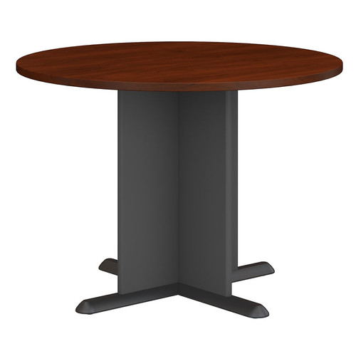 Bush TBA Series A C Round Conference Table Cherry Free Shipping - Round conference table for 4