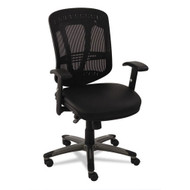 Alera Eon Series Multifunction Mid-Back Mesh Chair with Leather Seat Black - EN4215