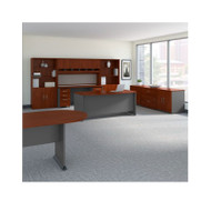 Bush Business Furniture Series C Package Executive Office with Storage and Conference Table Hansen Cherry -  SRC100HCSU