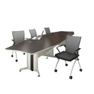 Mayline Transaction Series Conference Table 12' Boat Shaped - TAC12BB