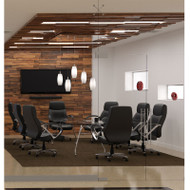 """OFM Glass Conference Table 47"""" x 94"""" & Chairs Package - GT1"""