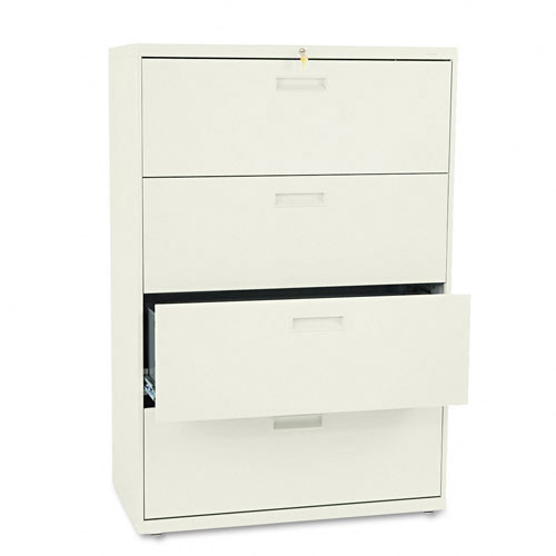 Merveilleux ... 4 Drawer Metal Lateral File Cabinet   584L. Image 1