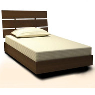 Nexera Nocce Twin 39 Bed & Headboard Truffle Finish - 401239