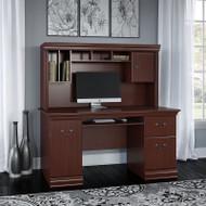 Bush Birmingham Executive Collection Computer Desk with Hutch - WC26620-03K