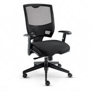 Alera Epoch Mesh Mid-Back Swivel / Tilt Multifunctional Chair Black - EP42ME10B