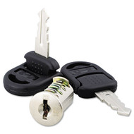 Alera Core Removable Lock and Key Set, Silver, Two Keys/Set - VA501111