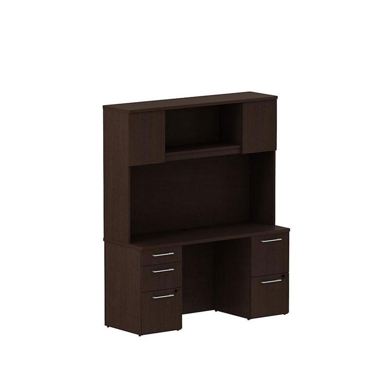 Bbf Bush 300s060mr 300 Series Desk W Pedestal And Hutch Free Shipping