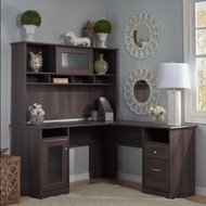 Bush Cabot Collection L-Shaped Desk with Hutch - CAB001HRG
