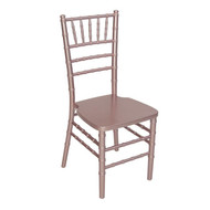 Wooden Chiavari Chair Rose Gold (Set of 4) - WCC4-RG