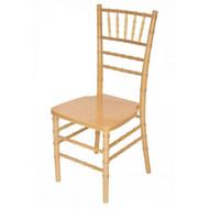 Wooden Chiavari Chair Natural (Set of 4) - WCC4-NAT