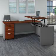"Bush Business Furniture Series C Sit to Stand L Shaped Desk 72"" x 30"" - SRC125HCSU"