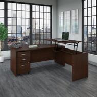 "Bush Business Furniture Series C Bow Front Sit to Stand L Shaped Desk 72"" x 36""  - SRC126MRSU"