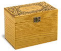 Paisley Collection Oak Personalized 4x6 Recipe Card Box