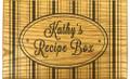 Hat Box Collection Oak Personalized 4x6 Recipe Card Box
