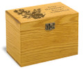 Bellflower Collection Oak Personalized 4x6 Recipe Card Box