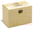 Rooster Collection Poplar Personalized 4x6 Recipe Card Box