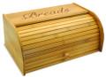 Script Wood Bread Box