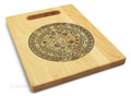 Aztec 9x12 Engraved Chopping Board Handle Maple Wood
