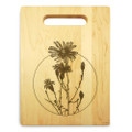 Flowers Aster 9x12 Engraved Chopping Board Handle Maple Wood