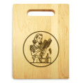 Miss Mixer 9x12 Engraved Cutting Board Featuring Handle Maple Wood