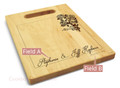 Rose Ribbon 9x12 Personalized Chopping Board Handle Maple Wood
