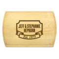Banner Year 10x16 Grooved Personalized Cutting Board