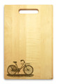 Bicycle 10x16 Handled Personalized Cutting Board